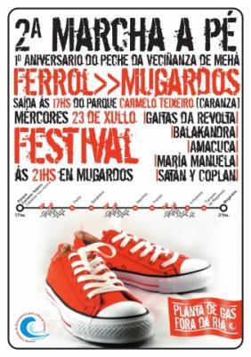 IIª MARCHA A PÉ: FERROL- MUGARDOS